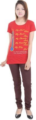 PFJ Printed Women's Round Neck T-Shirt