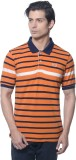 Carve Striped Men's Polo Neck Orange T-S...