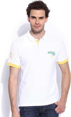 Kook N Keech Disney Solid Men's Polo Neck T-Shirt