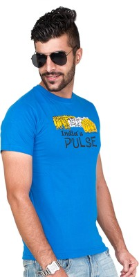 Furious Active Graphic Print Men's Round Neck Blue T-Shirt