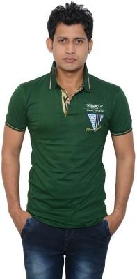 Lampara Solid Men's Polo Neck Green T-Shirt