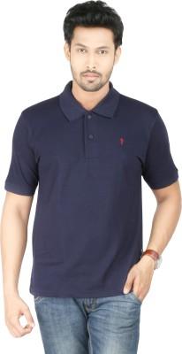 Donear Nxg Solid Men's Polo Neck Dark Blue T-Shirt