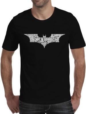 Fanideaz Printed Men's Round Neck Black T-Shirt