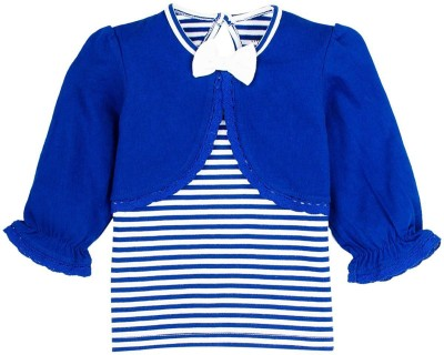 Mom & Me Striped Girl's Round Neck T-Shirt