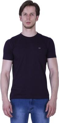 Duke Stardust Solid Men's Round Neck Purple T-Shirt