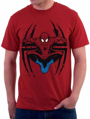 The Souled Store. Graphic Print Men's Round Neck Red T-Shirt