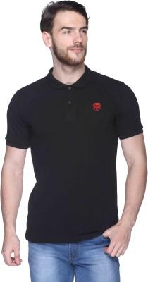 CLUB YORK Solid Men,s Polo Black T-Shirt