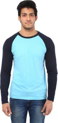 Five Stone Solid Men's Round Neck Light Blue T-Shirt