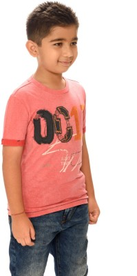 Shrunk By Be Pure Printed Boy's Round Neck T-Shirt