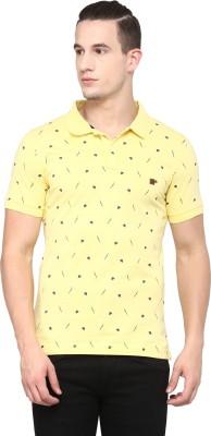 London Bridge Printed Men's Polo Neck Yellow T-Shirt