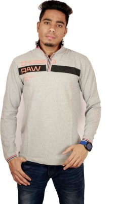 Etyhas Collections Solid Men's Polo Neck Grey T-Shirt