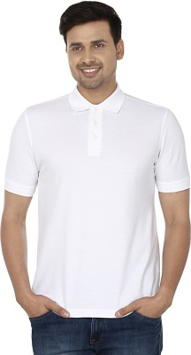 Wills Lifestyle Solid Men's Polo White T-Shirt