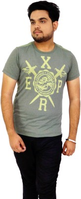 Parv Collections Solid Men's Round Neck Green T-Shirt