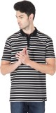 Roar and Growl Striped Men's Polo Neck B...