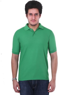 NGT Solid Men's Polo Neck Green T-Shirt