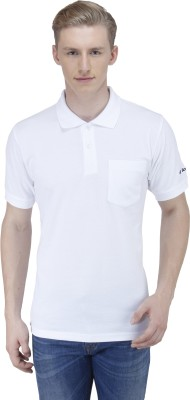 Lotto Solid Men's Polo Neck White T-Shirt