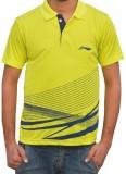Li-Ning Striped Men's Polo Neck Green T-...
