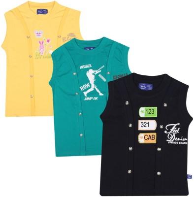 SPN Garments Printed Girl,s Round Neck Yellow, Green, Black T-Shirt