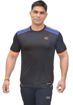 COLOR CASTLE Solid Men's Round Neck Black T-Shirt