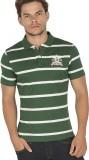 Bonaty Striped Men's Polo Neck Green T-S...