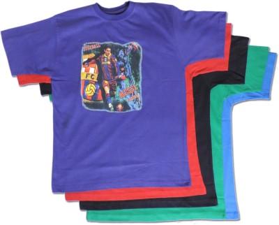 Vio Printed Boy's Round Neck Multicolor T-Shirt