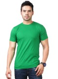 Funky Guys Solid Men's Round Neck Green ...