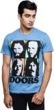 DOORS Printed Men's Round Neck Blue T-Sh...