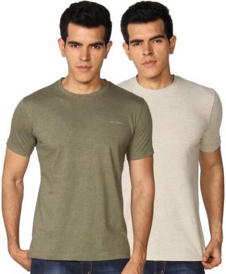 Provogue Solid Men's Round Neck Multicolor T-Shirt