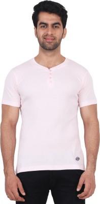Fashcom Solid Men's Henley Pink T-Shirt