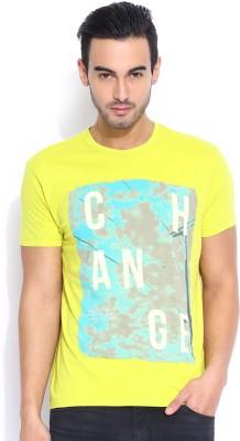 Lee Graphic Print Men's Round Neck Green T-Shirt