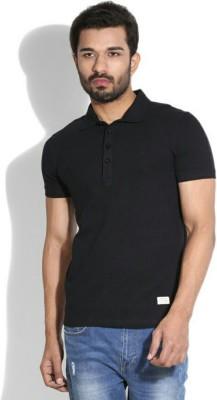 YouthTees Solid Men,s, Boy's V-neck Black T-Shirt