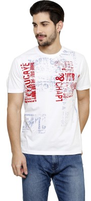 Freak,N by Cotton County Printed Men's Round Neck White T-Shirt