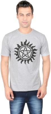 Redwolf Graphic Print Men's Round Neck Grey T-Shirt