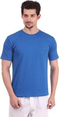 Bahamas Solid Men's Round Neck Blue T-Shirt