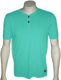 Cool Club Solid Men's Henley Light Blue ...