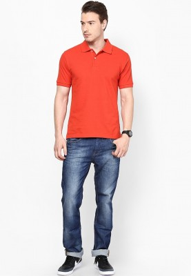 Blotch Solid Men's Polo Red T-Shirt