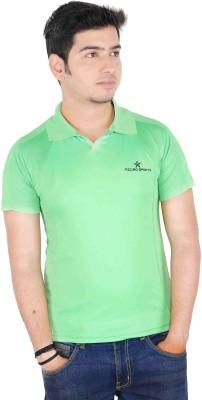 Jbn Creation Solid Men's Polo Neck Light Green T-Shirt