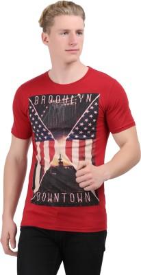 Stylefox Graphic Print Men's Round Neck Maroon T-Shirt