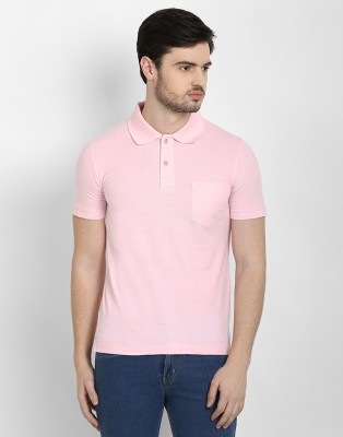 Freak,N by Cotton County Solid Men's Polo Pink T-Shirt