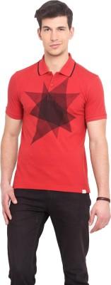 Smokestack Printed Men's Polo Red T-Shirt