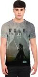 Star Wars Printed Men's Round Neck Grey ...