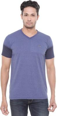 Wexford Solid Men's V-neck Purple T-Shirt