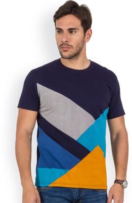 Blue Monkey Printed Men's Round Neck Dark Blue T-Shirt