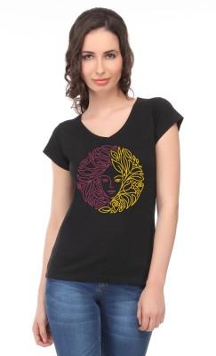 Graphic6 Printed Women's V-neck T-Shirt