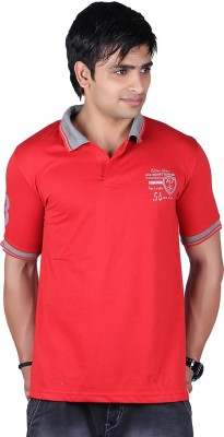 ALF Solid Men's Polo Neck Red T-Shirt