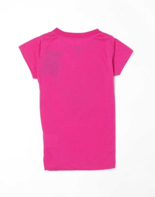 Nike Graphic Print Girl's Round Neck Pink T-Shirt