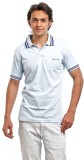 BG69 Solid Men's Polo Neck Light Blue T-...