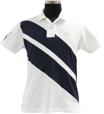 JUMP USA Embroidered Men's Polo White, Blue T-Shirt