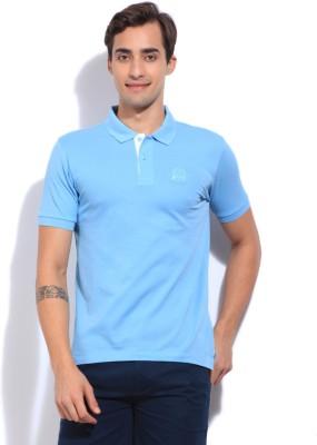 Arrow Sports Solid Men's Polo Blue T-Shirt