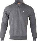 Wildcraft Solid Men's Henley Grey T-Shir...